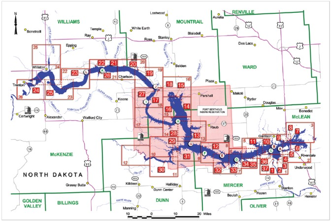 Omaha District Missions Dam And Lake Projects Missouri River - North dakota rivers map